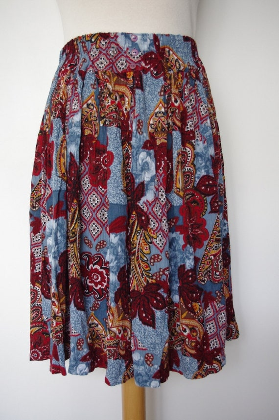 Vintage Gypsy skirt - light and airy - russian doll and folk style