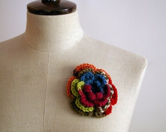 Flower brooch OOAK