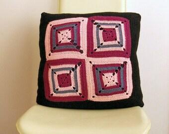 Uncinetto cuscino in stile Granny Square