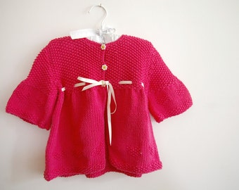 Honeysuckle baby sweater