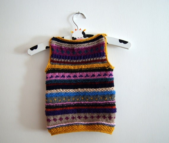 Multicolor baby waistcoat 3/6 months