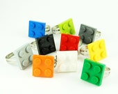 LEGO Plate ring in a free capsule ... chose your color. 80s Geek, Retro, Fun, Girl, Nerd, Dork, Cool - ChocolateMintCrafts