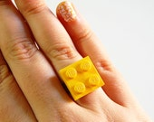 LEGO Plate ring in Yellow