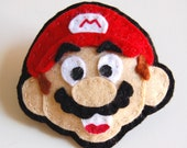 Mario Felt Brooch ... Nintendo 80s Geek, Retro, Fun, Nerd, Dork, Cool