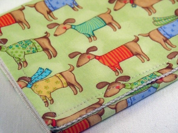 Burp Cloth with Style - Cotton / Organic undyed French Terry - My Dog