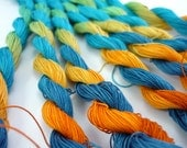 size 40 hand dyed tatting and crochet thread - Getaway