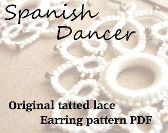 Spanish Dancer Earrings - original tatting pattern