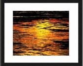 Tropic Sunset 1 - Sunset ocean beach together forever gift ocean is calling beach bum orange sunset Fine Art Print 16x20 Limited 1/50