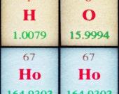 HO HO HO - Christmas gift for chemistry teacher mad science lab modern family lab wall decoration christmas gift idea for mad sciencist