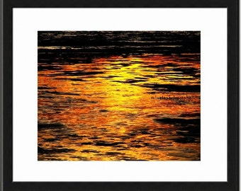 Tropic Sunset 1 - Sunset ocean beach together forever gift ocean is calling beach bum orange sunset Fine Art Print 16x20 Limited 1/50