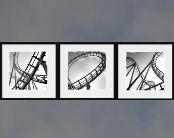 Roller Coaster Life set - happy together life modern wall decor always up and down up up up roller coaster holiday gift idea for sweet home