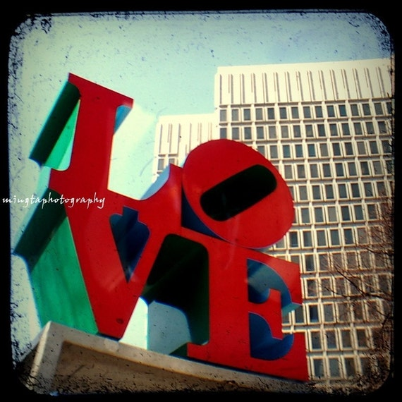 TTV All You Need Is Love - nursery art decor real love for her for him I love you Valentine gift idea wedding gift LOVE Park Fine Art print