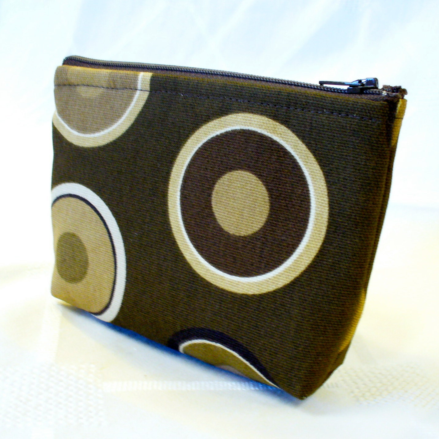 Bullseye Zipper Pouch Small Cosmetic Bag Make Up by