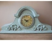 Aqua Blue Shabby Chic Clock ... table top ... French Chic