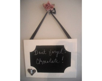 repurposed Chalk board ... message board .. Wedding ... French chic Heart