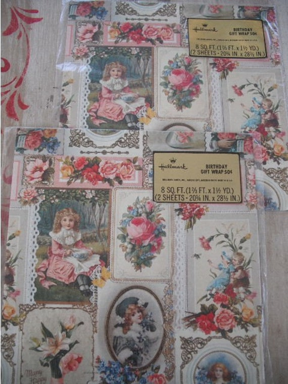 Vintage Hallmark Wrapping Paper Victorian And By