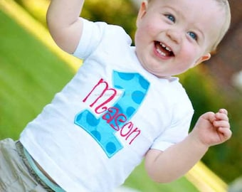 Personalized Birthday shirt or bodysuit for a boy or girl.