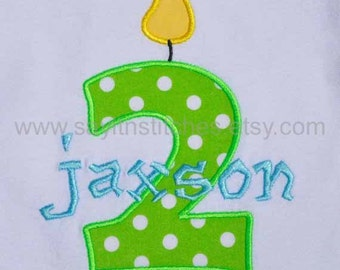 Personalized Birthday shirt or bodysuit for a girl or boy, 1st birthday, 2nd birthday