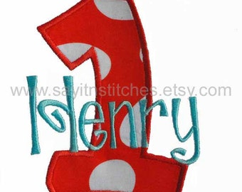 Personalized Birthday number shirt or bodysuit, Number 1-9 available, Different Fabrics available