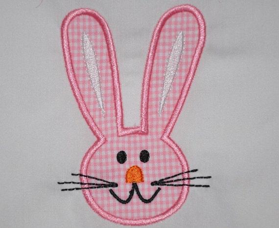 Bunny rabbit applique onesie (FREE personalization)