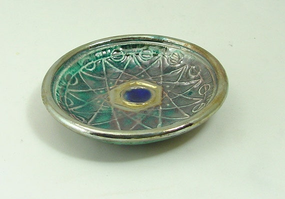 Sacred Geometry Offering Bowl Crop Circle  Pottery