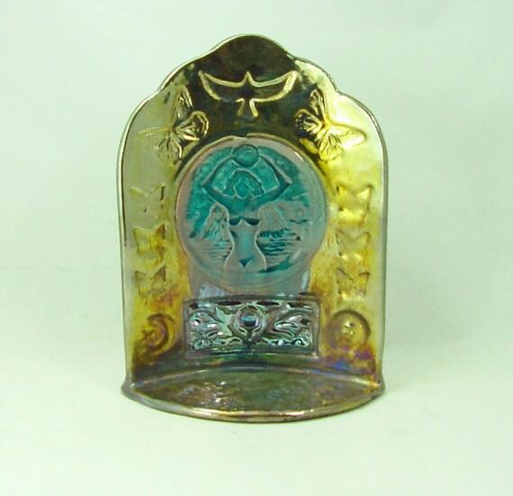 Raku Gaia Shrine Handmade Pottery
