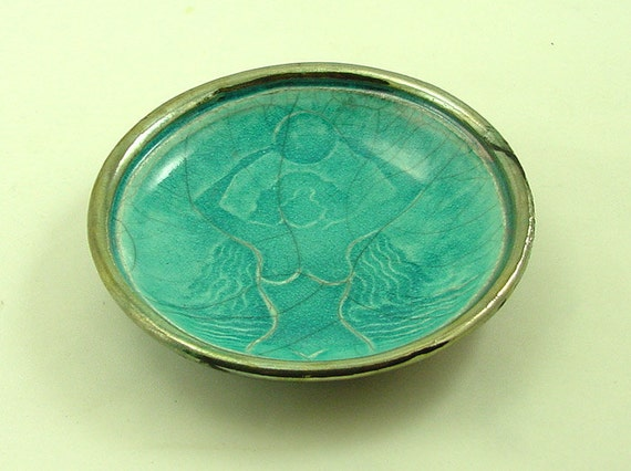 Gaia  Offering Bowl Handmade  Raku Ceramic Pottery