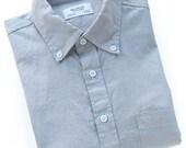 Concrete Gray Chambray Shirt - BkT10