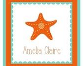 Starfish Sticker, Tag, Enclosure Card, Book Plate, Address Label Set