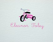 Children's Personalized Tricycle Stationery/Note Card Set