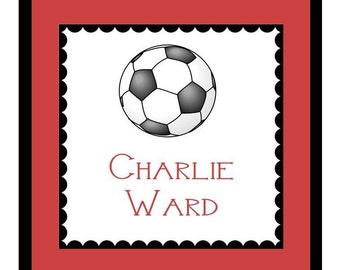 Soccer / Sports Gift Sticker, Enclosure Card, Book Plate or Address Label