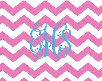 Preppy and Pink Chevron Folded Notes - Set of 10