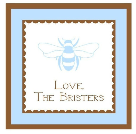 Bumble Bee Label, Enclosure Card, Sticker, Book Plate, Address Label Set