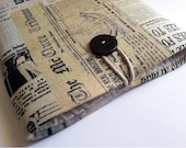 iPad Case Sleeve Padded Cover for iPad 2 or 1 - Newspaper