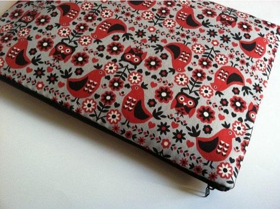 Laptop Sleeve, 13 inch MacBook Case Cover Fits Laptops - Scandinavian Birds