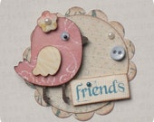 Shabby Chic Birdie Embellishments - Scrapbooking - Cards - Gifts - Tags