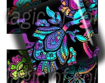 Elegant East  - 56  1x1 Inch Square  JPG images - Digital  Collage Sheet