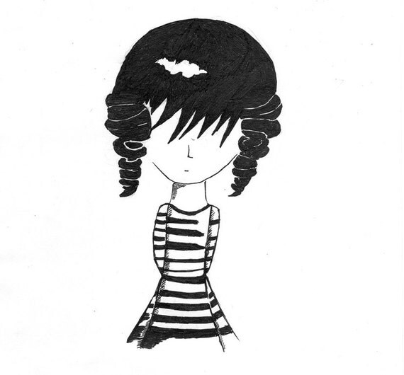 Loneliness. Original Child's Ink Drawing