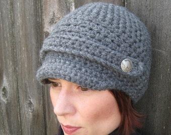 PATTERN Crochet Newsboy Cap - Buffalo Gal Woman's Crochet Hat PDF Pattern