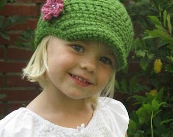 PATTERN Crochet Newsboy Hat Baby Child Beanie PDF Pattern