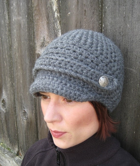 Crochet Newsboy Hat Pattern : PATTERN Crochet Newsboy Cap - Buffalo Gal Womans Crochet Hat PDF ...