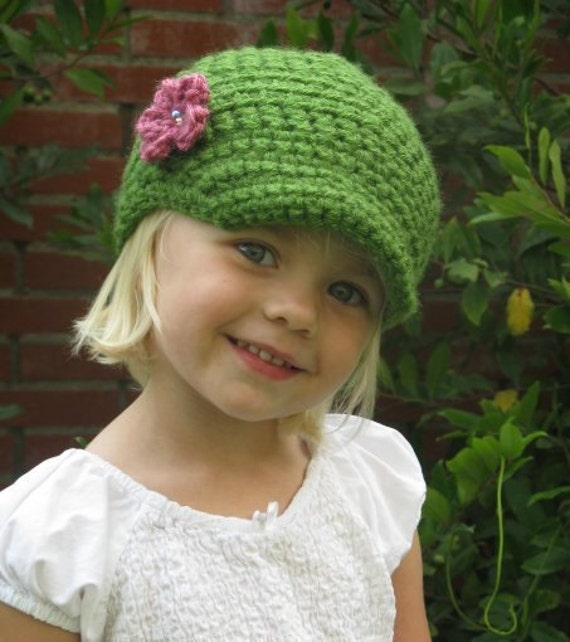 Crochet Beanie Pattern For Child : PATTERN Crochet Newsboy Hat Baby Child Beanie PDF Pattern