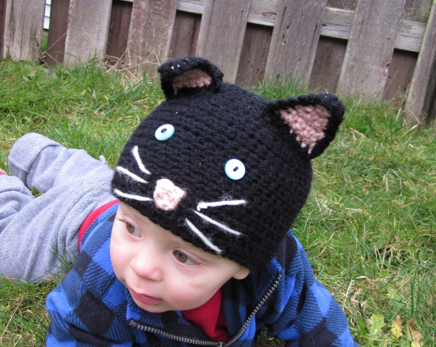 Newborn Crochet Cat Hat Pattern : PATTERN Crochet Baby Cat Hat Child Cap Benie PDF