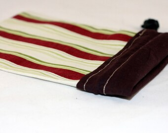 Project Bag, Brown and Cream, Stripes, Reversible, Small