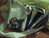 Reversible Applique Shoulder Bag