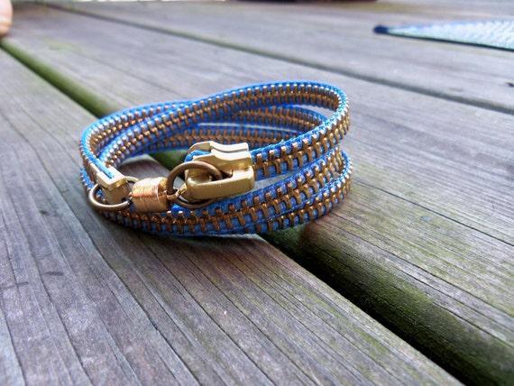 Zipper Bracelet - Periwinkle