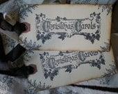 6  Christmas Carol Tags / Shipping tags / Victorian inspired