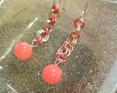 CLEARANCE Bubblegum Jade Earrings