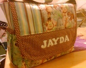 RESERVED  - Custom Handmade Diaper Bag PERSONALIZED - You choose the fabric