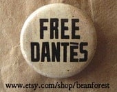 count of monte cristo, alexandre dumas - free dantes - pinback button badge